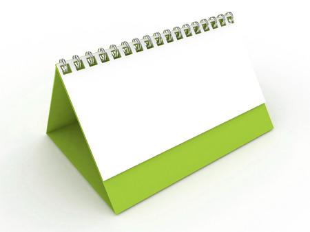 numerate: 3D Blank Calendar-Light Green