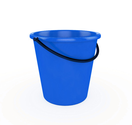 bails: 3d Blue Bucket Stock Photo