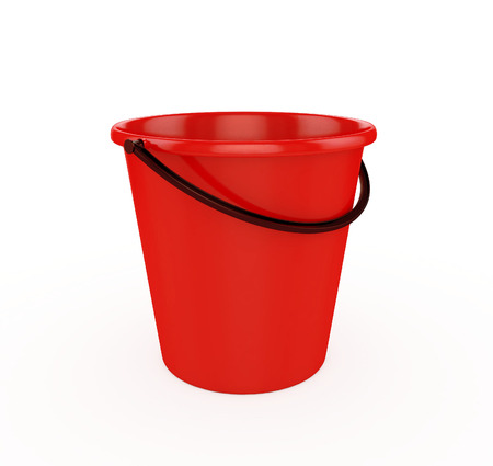 bails: 3d Red Bucket
