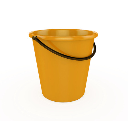 bails: 3d Yellow Bucket Stock Photo