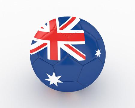 elimination: 3d Australia Soccer Ball - isolated