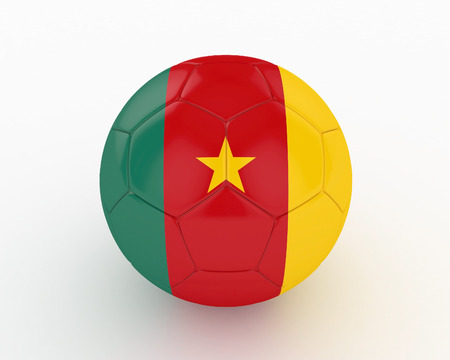 favorable: 3d Cameroon Soccer Ball - isolated Stock Photo