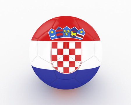 favorable: 3d Croatia Soccer Ball - isolated