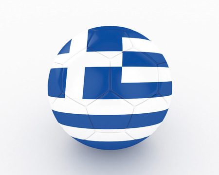 elimination: 3d Greece Soccer Ball - isolated