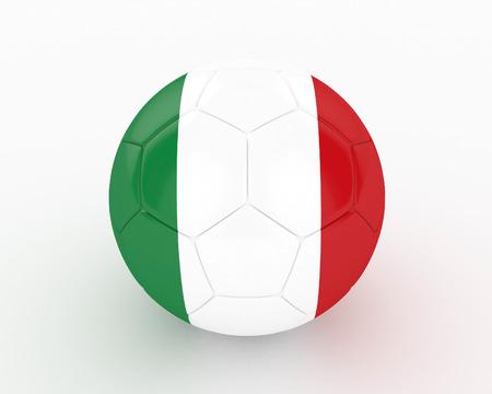 3d Italy Soccer Ball - isolated photo