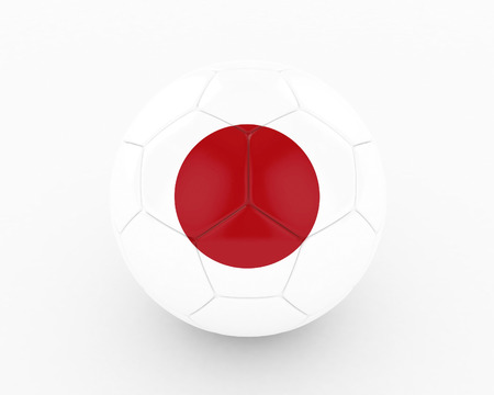 favorable: 3d Japan Soccer Ball - isolated
