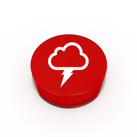3d lightning: 3d Lightning Weather Web Button - isolated
