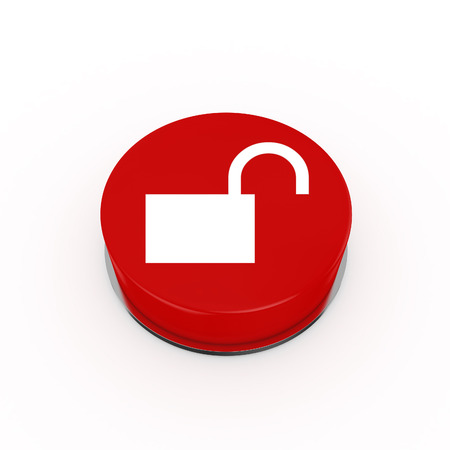 log out: 3d Log Out Web Button - isolated