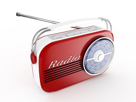 3d Retro Radio - isolated photo