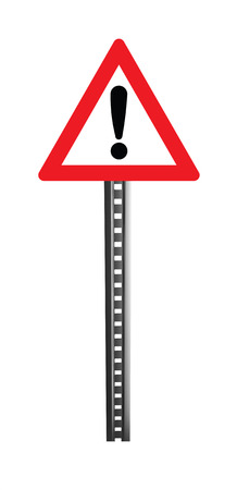 licence: Traffic Warning Signboard, caution - isolated Stock Photo