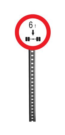 warning indicator: Traffic Warning Signboard - isolated