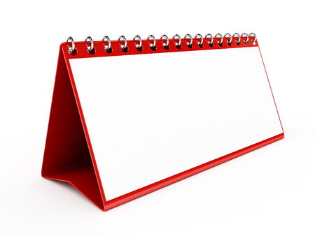 lux: 3d Lux Red Blank Calendar - isolated