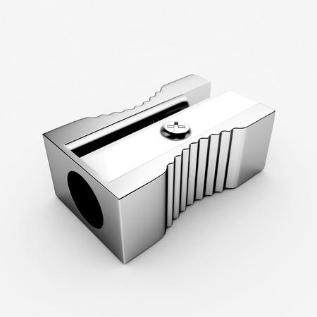 sharpen: 3d Metal Sharpener - isolated