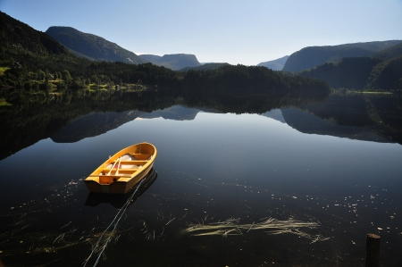 Fishing in Norway Stock Photo