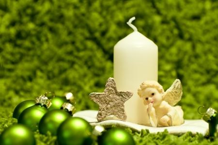 Green christmas composition Stock Photo