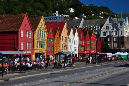 Bryggen houses in Bergen, Norway