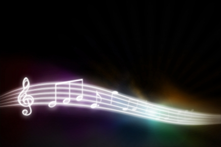 Music background - black