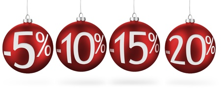 Christmas balls with discounts  Stock Photo