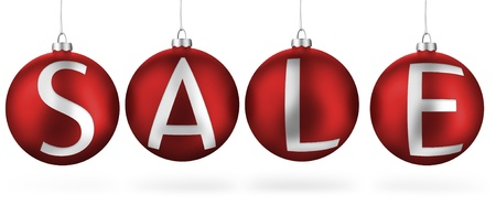Christmas balls - Sale Stock Photo