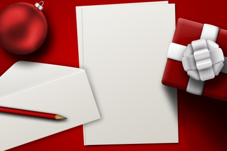 A letter to Santa Stock Photo