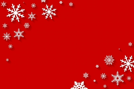 Merry Christmas greeting card - holiday flat background Stock Photo