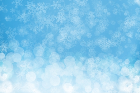 Blue snowy background - winter and Christmas theme