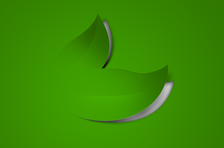 spring out: Green leaves cut out from paper - a spring background Stock Photo