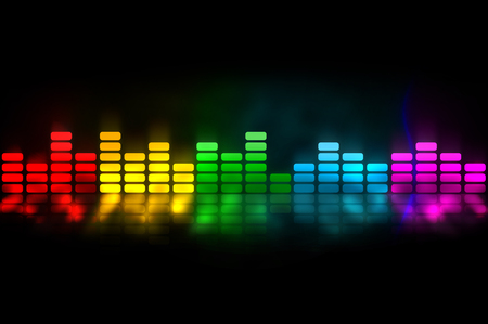 Colorful equalizer - music background Stock Photo