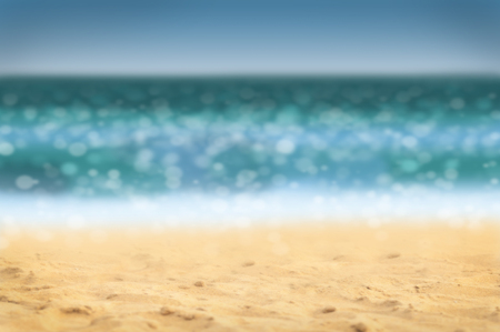 chillout: Summer holidays background - beach and sea, defocused.