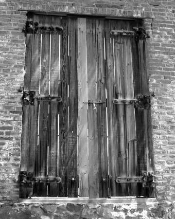 Black and White wooden window Banque d'images
