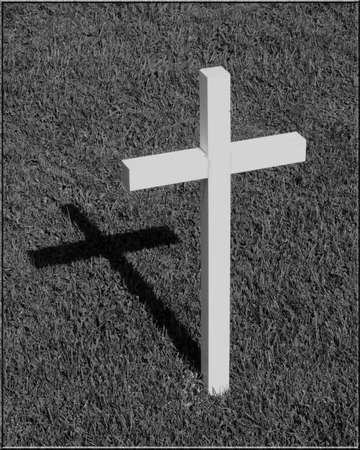 single cross and shadow