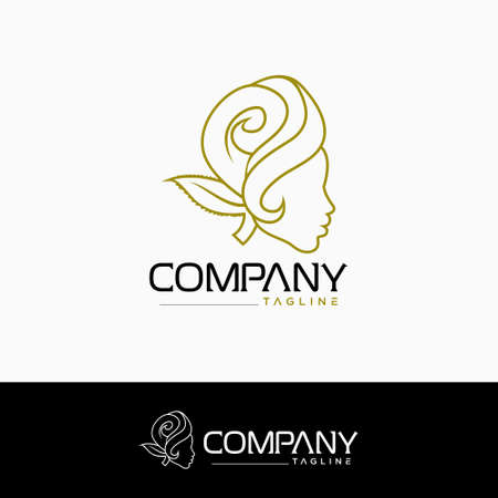 Creative beauty logo. with rose concept Logos
