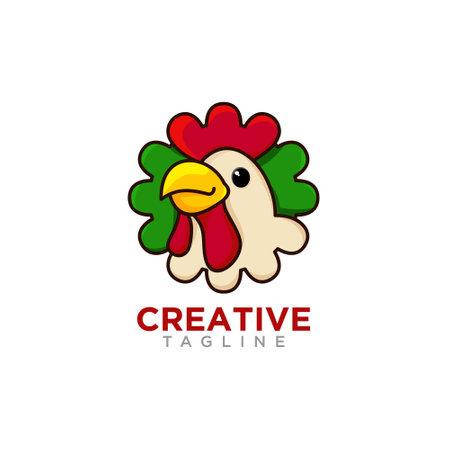 Creative Chicken Logo design vector .