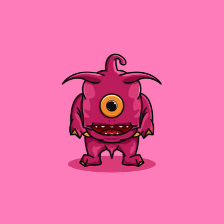 Creative aliens cartoon design vector