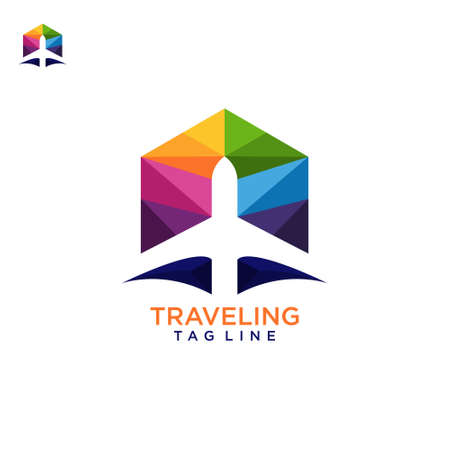 Traveling logo , awesome design vector template