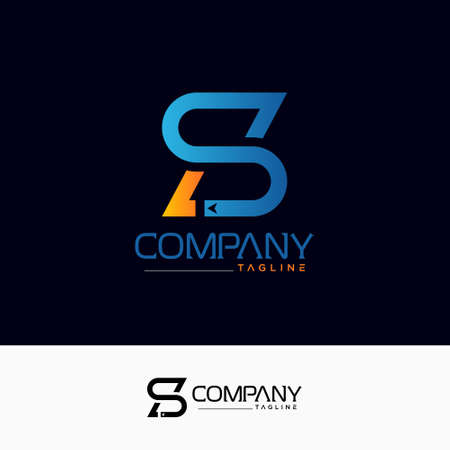 Creative S L logo. design vector template