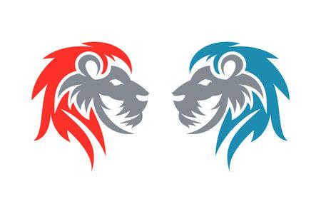 Lion logo, creative design vector template