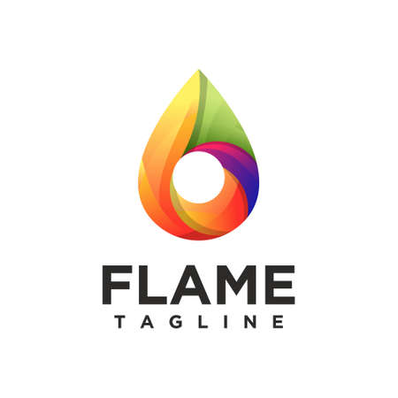 Flame and nature concept design vector