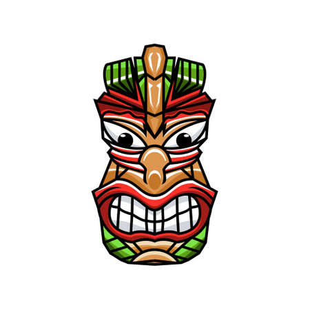 Tiki mask , creative design vector template