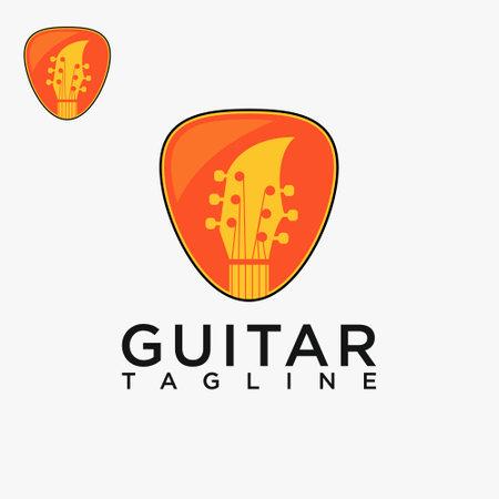 Guitar logo, creative design vector