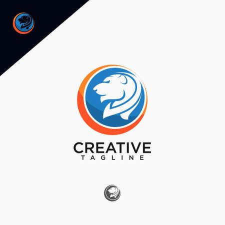 Lion logo, creative design vector