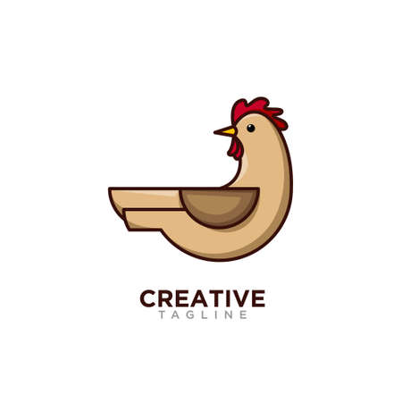 Chicken logo, creative design vector