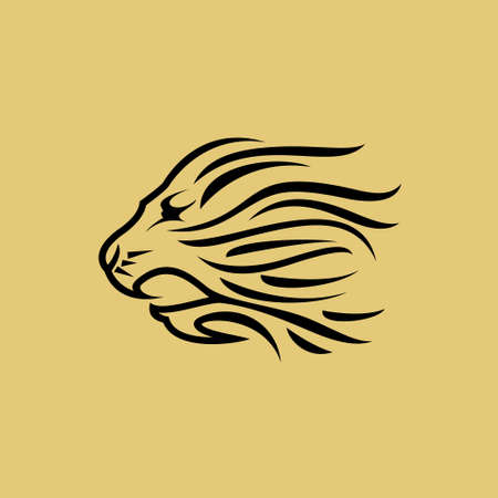 Lion head , creative design vector