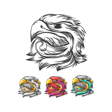 Eagle head, creative design vector template