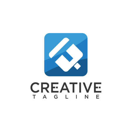 T letter logo, creative design vector