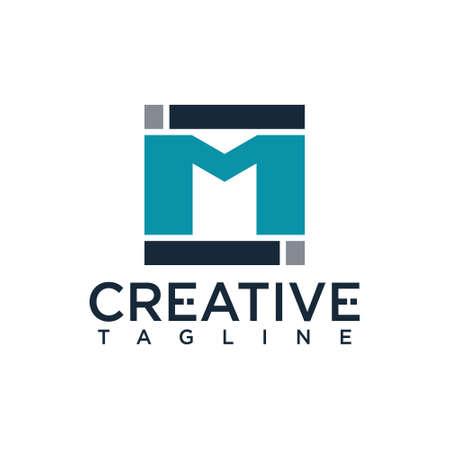 M I letter logo, creative design vector