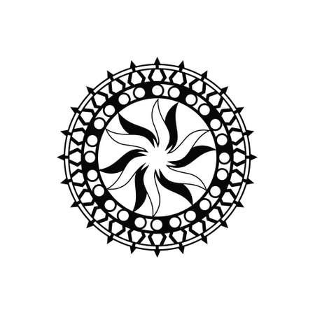 Mandala art , creative design vector template Ilustracje wektorowe