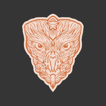 Animal owl face design vector template