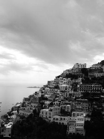 settlement: Stacked Settlement - Positano - Italy Stock Photo