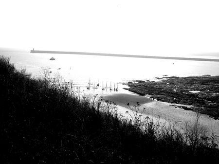 windsurfers: Windsurfers in the Bay - Tynemouth - UK